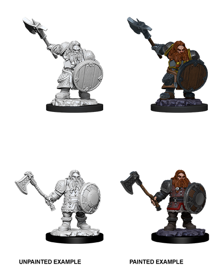 Unpainted Minis: W11: D&D: Dwarf Male Fighter | Misty Mountain Games