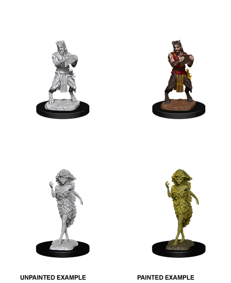 Unpainted Minis: W11: D&D: Satyr & Dryad | Misty Mountain Games