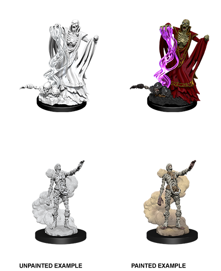 Unpainted Minis: W11: D&D: Lich & Mummy Lord | Misty Mountain Games