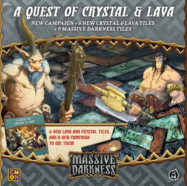 Massive Darkness: A Quest of Crystal & Lava | Misty Mountain Games