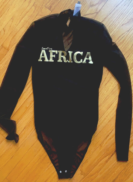 "The Lion King Gold ""AFRICA"" Bodysuit"