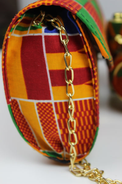 African Kente Hand Made Clutch / Purse
