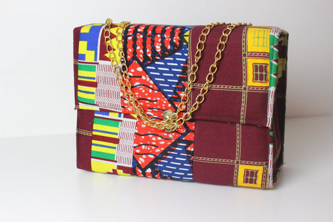 Mariaga African Print Bag- Square Box Shape