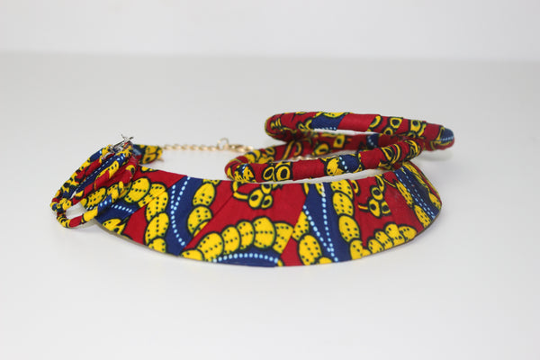 Adjoa African Ankara Necklace Set (3 Pieces)