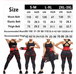 DELUX RED 2-in-1 Butt Lifter Waist Wrap & Thigh Trimmer Wrap- S/M L/XL