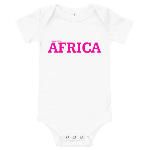 Baby #AFRICA One Piece T-Shirt (Fuchsia)