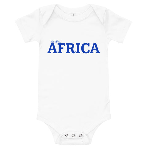 Baby #AFRICA One Piece T-Shirt (BLUE)