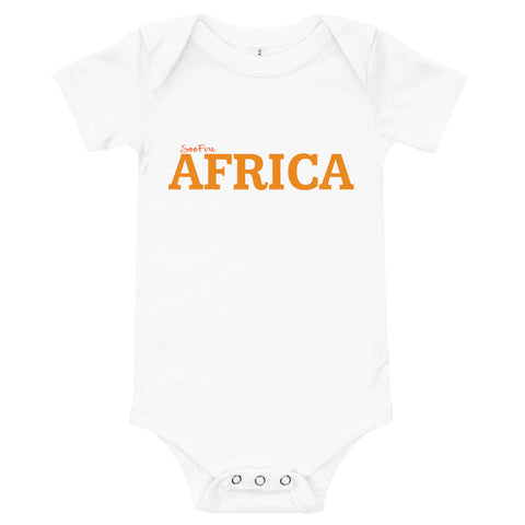 Baby #AFRICA One Piece T-Shirt (ORANGE)