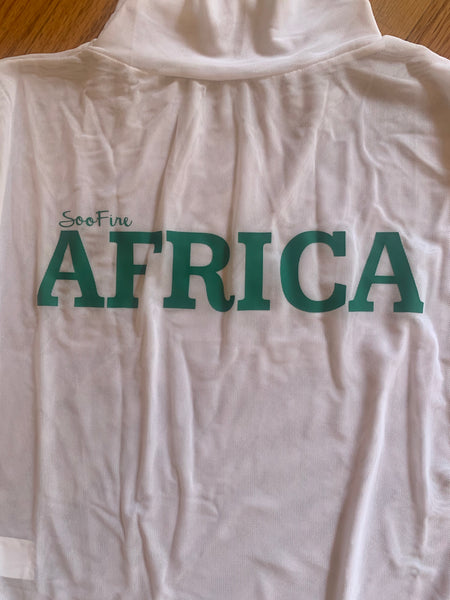 "White & Green ""AFRICA"" Bodysuit"