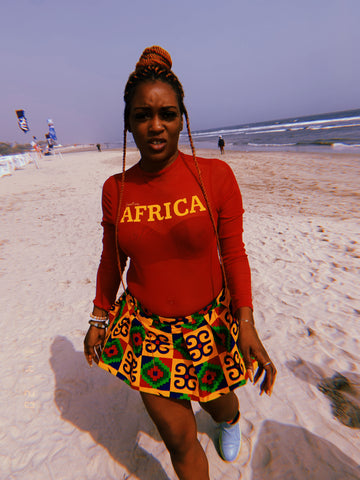 Red & Yellow AFRICA Bodysuits