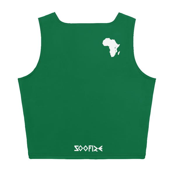 AFRICA Sublimation Cut & Sew Crop Top Style 2 (GEEN)