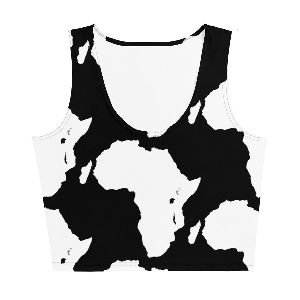 AFRICA Sublimation Cut & Sew Crop Top (BLACK)