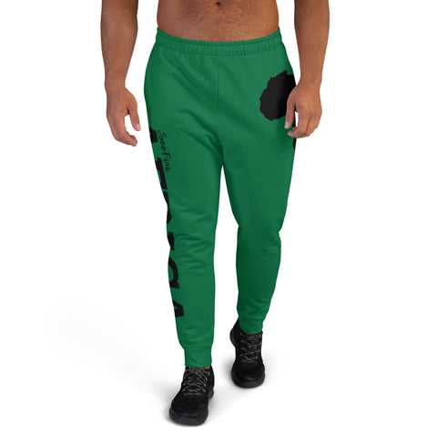 Men's AFRICA Joggers (Black/Green)