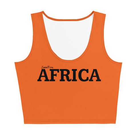 AFRICA Sublimation Cut & Sew Crop Top Style 2 (ORANGE)
