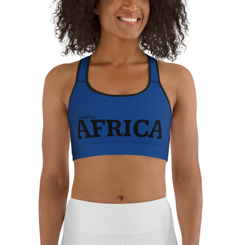AFRICA By SooFire Sports bra (BLUE)