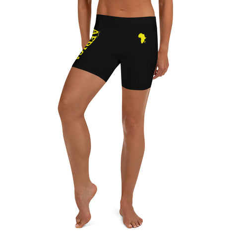 New AFRICA Shorts Style 2 (Yellow/Black)