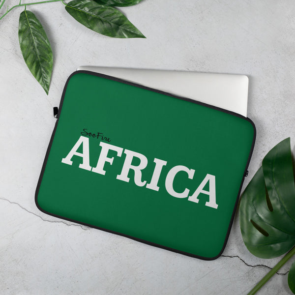 AFRICA Laptop Sleeve (GREEN)