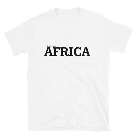 AFRICA By SooFire Short-Sleeve Unisex T-Shirt (White & Black)