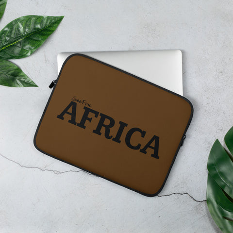AFRICA Laptop Sleeve (BROWN)