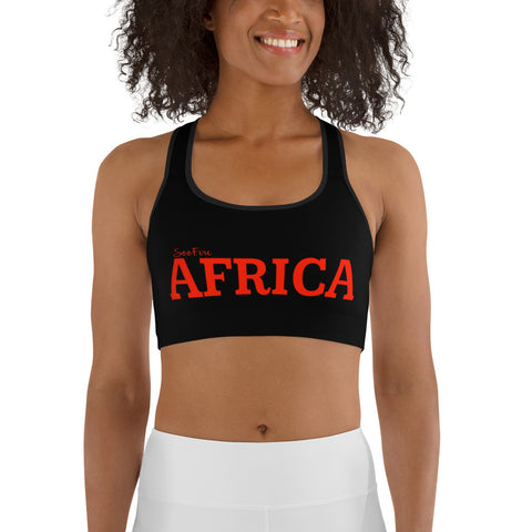 New AFRICA by SooFire Sports bra (Red/Black)
