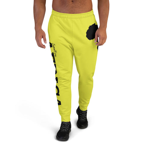 Men's AFRICA Joggers (Black/Neon Yellow)