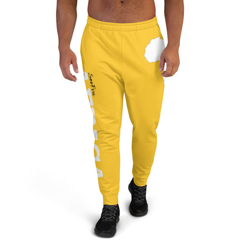 Men's AFRICA Joggers (White/Yellow)