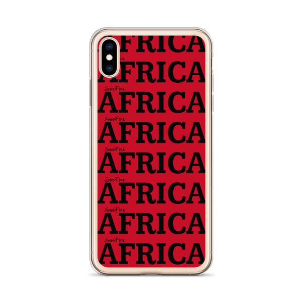 AFRICA Red iPhone Case