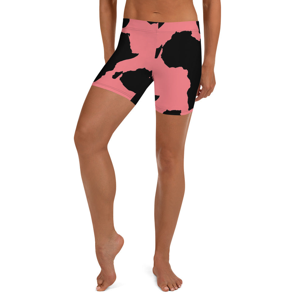 AFRICA is a CONTINENT Shorts by SooFire Style 2 (PINK)