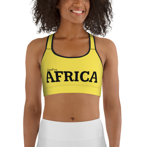 AFRICA By SooFire Sports bra (YELLOW)