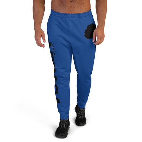 Men's AFRICA Joggers (Black/Blue)