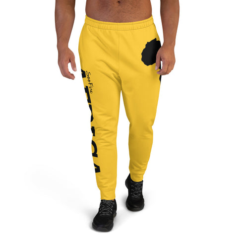 Men's AFRICA Joggers (Black/Yellow)