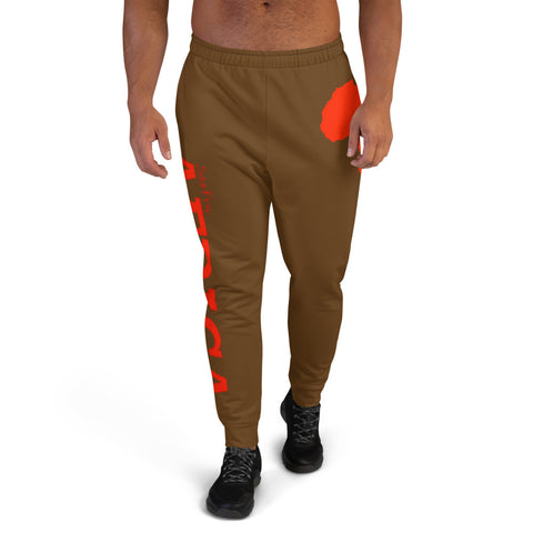 Men's AFRICA Joggers (Red/Brown)