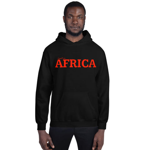AFRICA by SooFire Unisex (Red/Black) (Red/Navy) Hoodie