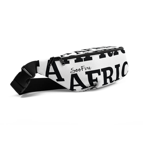 AFRICA Fanny Pack by SooFire (Black/White)