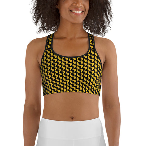 AFRICA By SooFire Sports bra Style 2 (YELLOW)