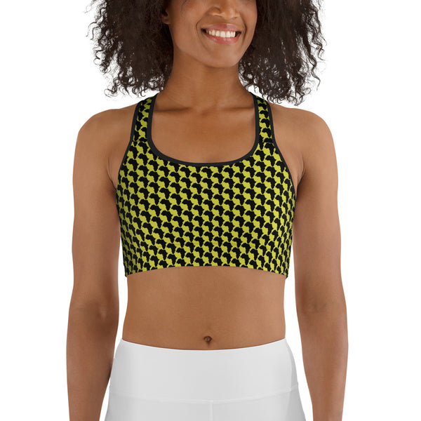 AFRICA By SooFire Sports bra Style 2 (NEON)