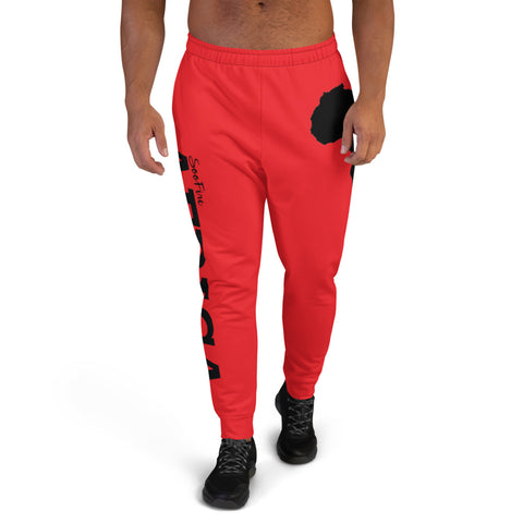 Men's AFRICA Joggers (Black/Red)