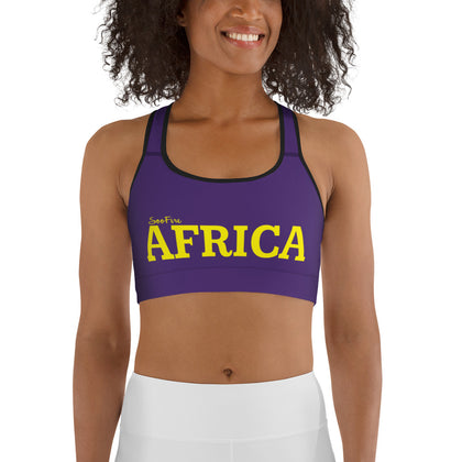 New AFRICA by SooFire Sports bra (Lakers)