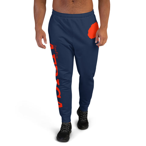 Men's AFRICA Joggers (Red/Navy Blue)