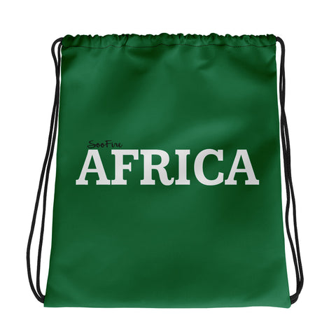 AFRICA Drawstring bag (GREEN)