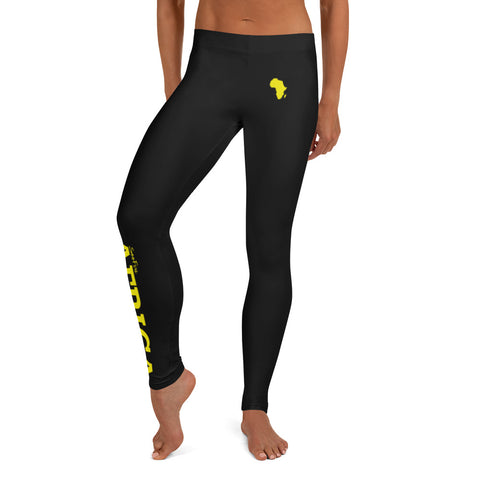 New AFRICA By SooFire Leggings Style 2 (Yellow/Black)