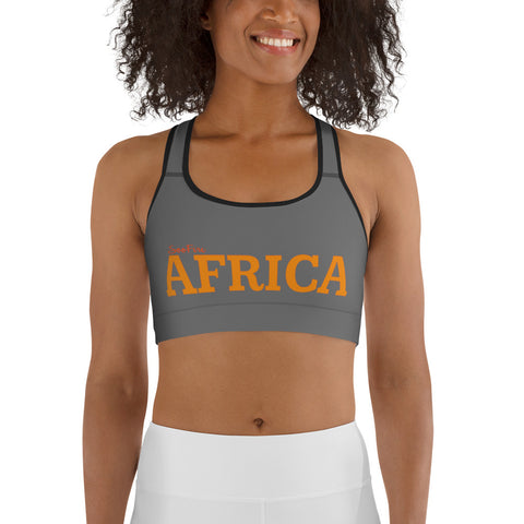 AFRICA By SooFire Sports bra (Orange/Grey)