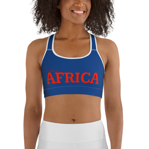 AFRICA By SooFire Sports bra (Red / Blue)