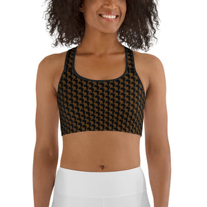 AFRICA By SooFire Sports bra Style 2 (BROWN)
