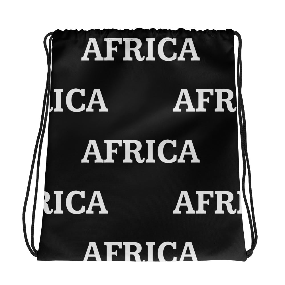 AFRICA Drawstring bag (BLACK) PRINT