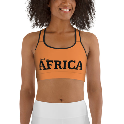 AFRICA By SooFire Sports bra  (ORANGE)