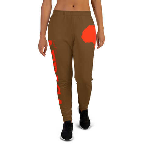 Women's AFRICA Joggers (Red/Brown)