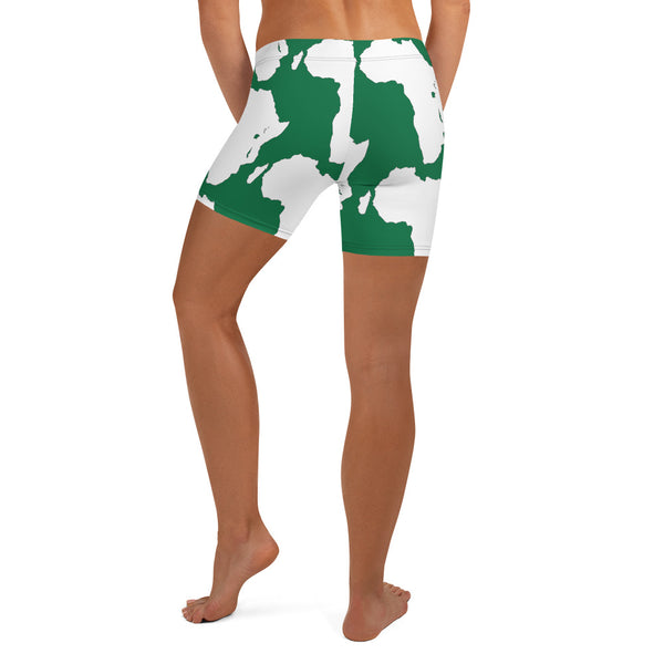 AFRICA is a CONTINENT Shorts by SooFire Style 2 (GREEN)