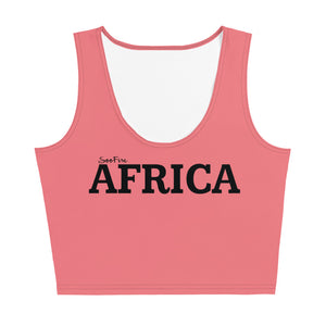 AFRICA Sublimation Cut & Sew Crop Top Style 2 (PINK)