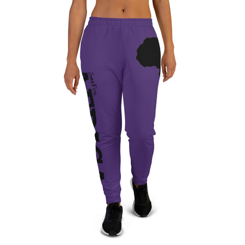 Women's AFRICA Joggers (Black/Purple)